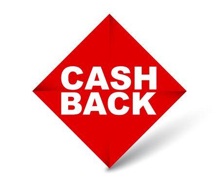 red vector banner cash back