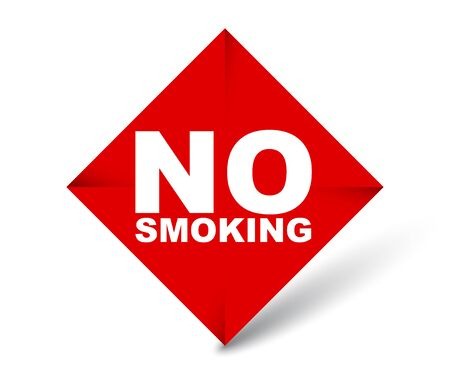 red vector banner no smoking