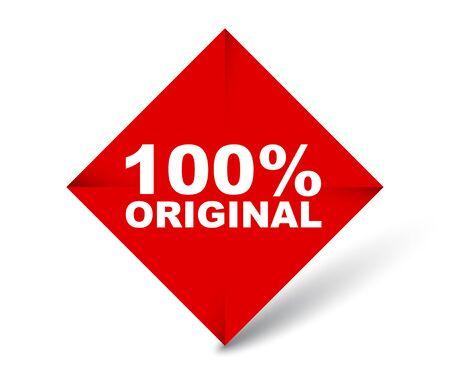 red vector banner 100% original 向量圖像