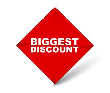 red vector banner biggest discount