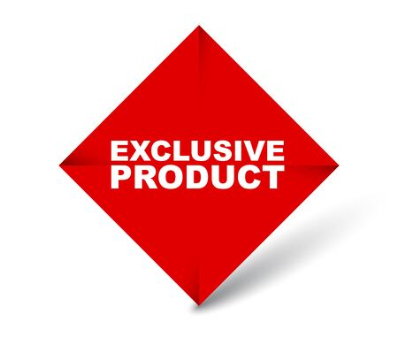 red vector banner exclusive product