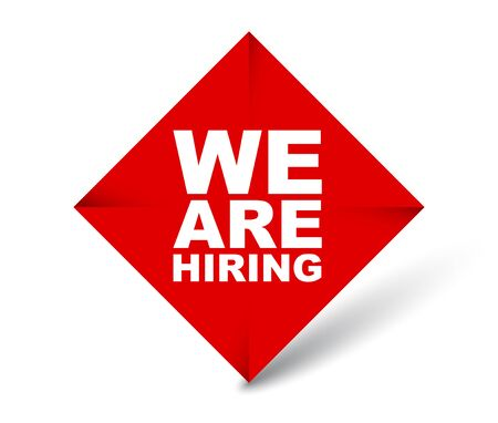 red vector banner we are hiring