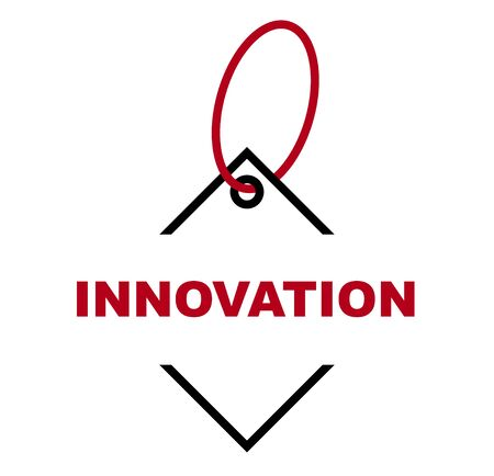 red vector banner innovation