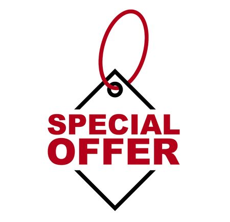 red vector banner special offer Ilustração