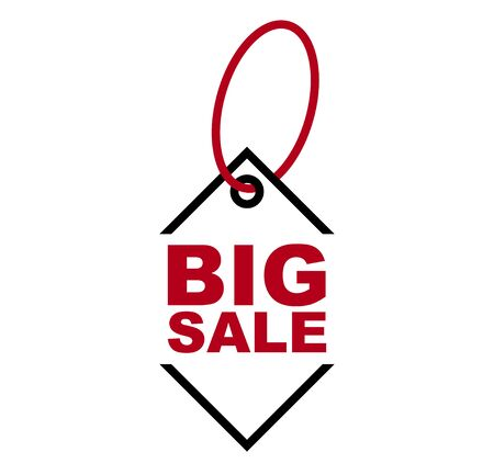 red vector banner big sale