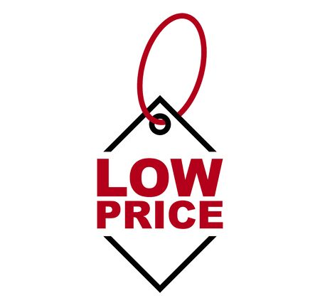 red vector banner low price