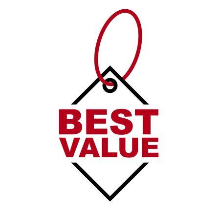 red vector banner best value