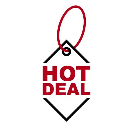 red vector banner hot deal Foto de archivo - 138183460
