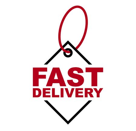 red vector banner fast delivery 向量圖像