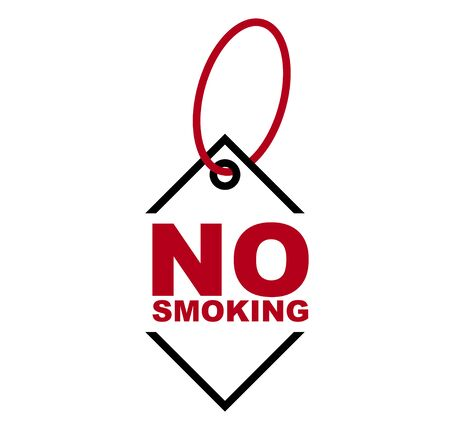 red vector banner no smoking