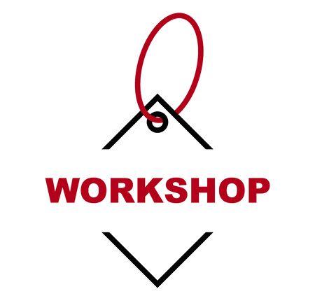 red vector banner workshop