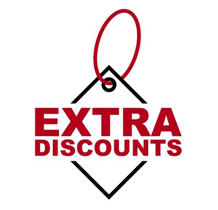 red vector banner extra discounts
