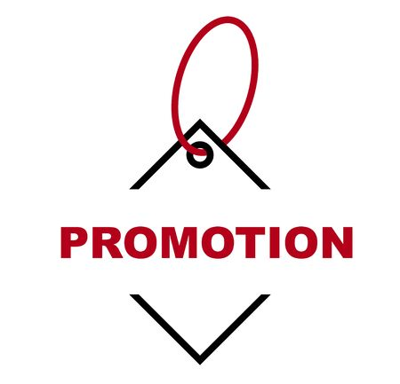 red vector banner promotion 일러스트