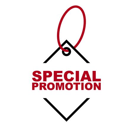 red vector banner special promotion 일러스트