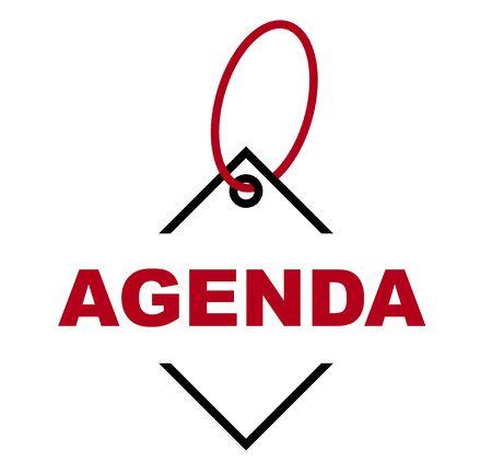 red vector banner agenda Ilustração