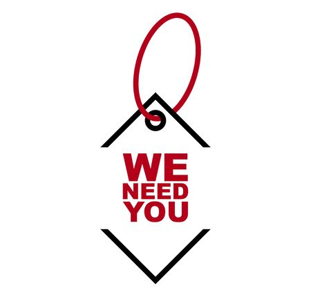 red vector banner we need you