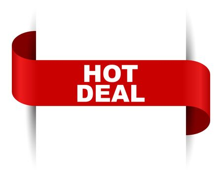 red vector banner hot deal Foto de archivo - 138233080