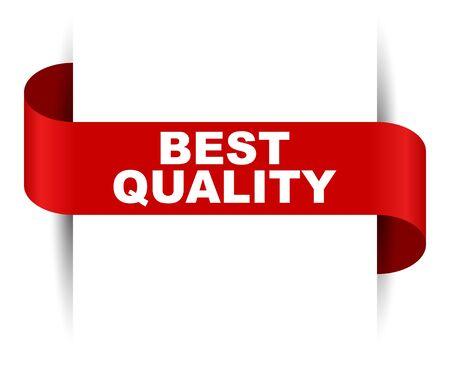 red vector banner best quality Foto de archivo - 138239889