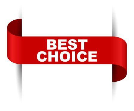 red vector banner best choice Foto de archivo - 138239217
