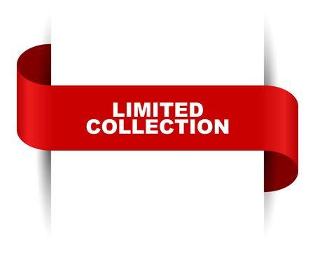 red vector banner limited colection Foto de archivo - 138300433
