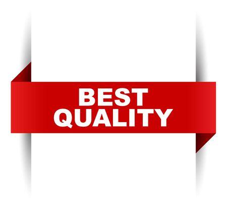 banner de vector rojo mejor calidad Ilustración de vector