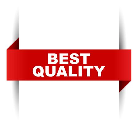 red vector banner best quality Vektorové ilustrace