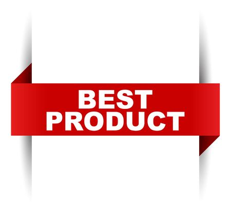 red vector banner best product