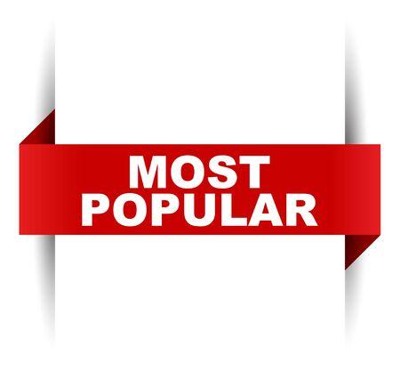 red vector banner most popular Vektorgrafik