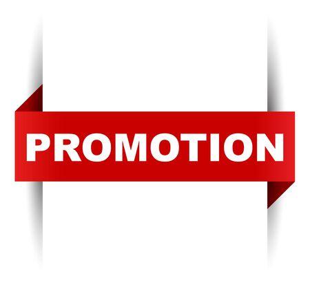 red vector banner promotion Illusztráció