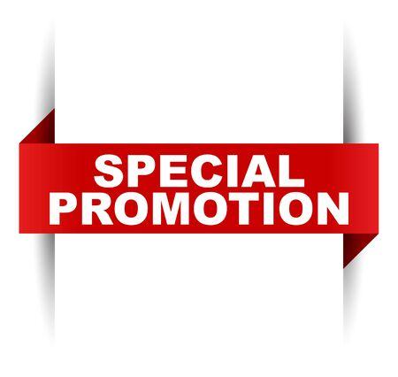 red vector banner special promotion Illusztráció