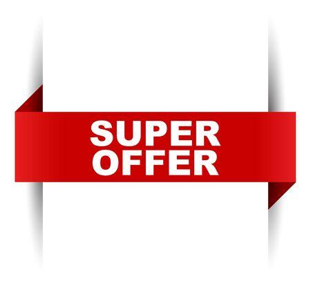 red vector banner super offer