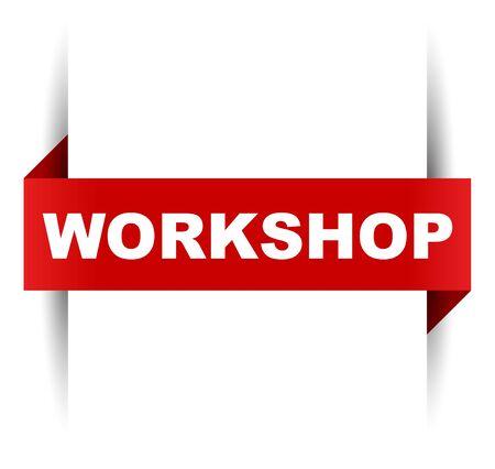 red vector banner workshop Ilustración de vector