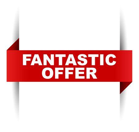 red vector banner fantastic offer