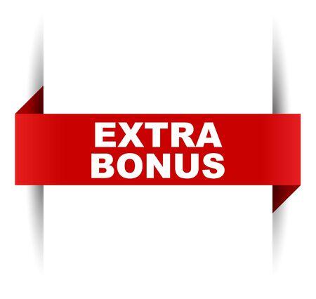 red vector banner extra bonus
