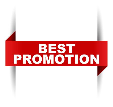 red vector banner best promotion Çizim