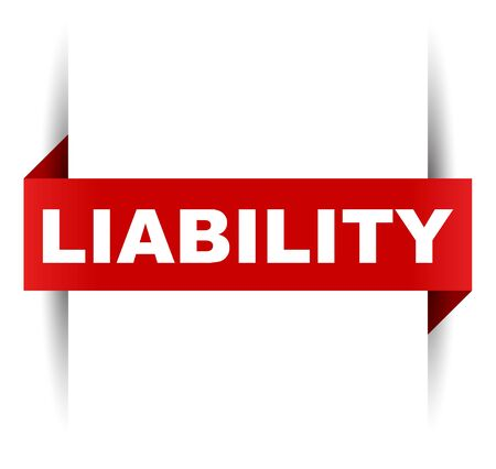 red vector banner liability