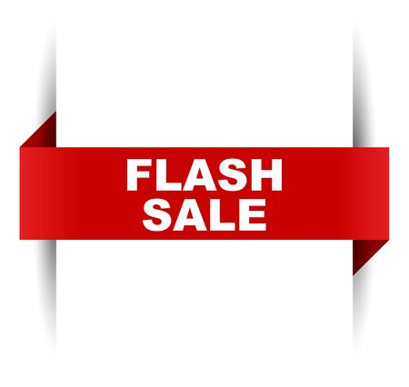 red vector banner flash sale