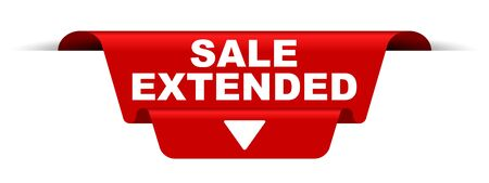 red vector banner sale extended