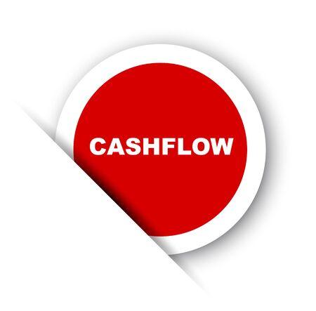 red vector banner cashflow Stock Illustratie