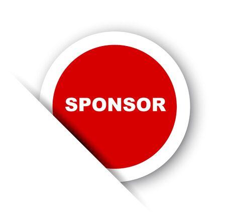 red vector banner sponsor Vecteurs