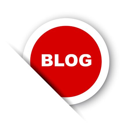 red vector banner blog