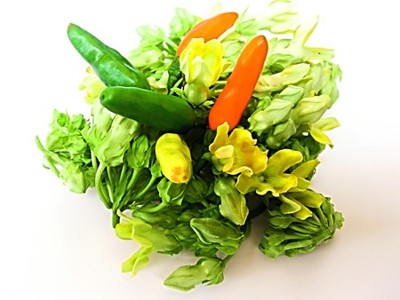 cowslip: Cowslip  and Chili;Thailand Stock Photo
