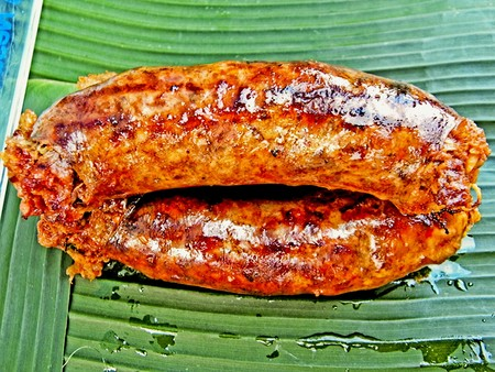 broiling: Thai sausage;Thailand Stock Photo