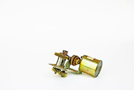 electrical parts: Electrical parts on white background.