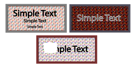text field: Tables with colored background and a text field