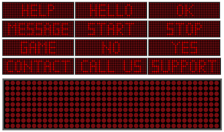 Digital boards with inscriptions in red letters FORMED Vettoriali