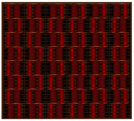 Red background, tapestry or curtain in the form of an abstract library Illustration