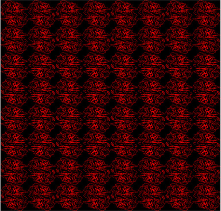 endless: Endless seamless abstraction black and red background