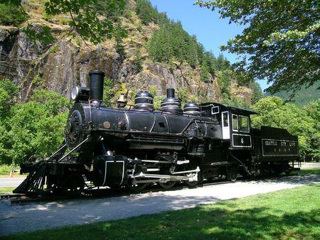 of yesteryear: Steam Locomotive Stock Photo
