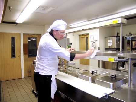 kitchen towel: Cleaning Commercial Industrial Kitchen